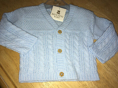 Mintini Baby Cardigan - Bnwt - 9 Months - Clearance Sale - Boys