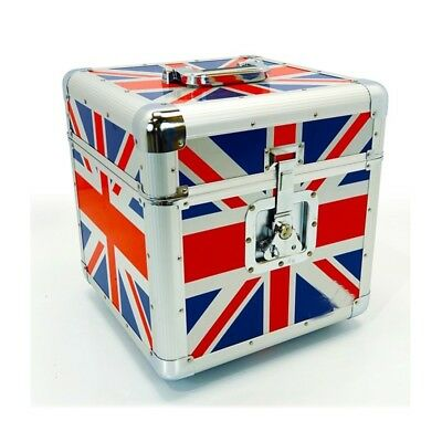 NEW Premium Aluminium UNION JACK Motorcycle Helmet Protective Storage Box Case