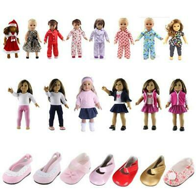 Clothes Dress Shoes for 18 inch American  Doll Outfits Pajama