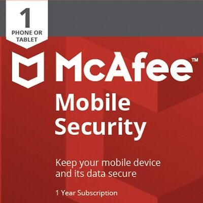McAfee Mobile Security 2019 1YEAR 1SMARTPHONE/TABLETS ANDROID INTERNET SECURITY