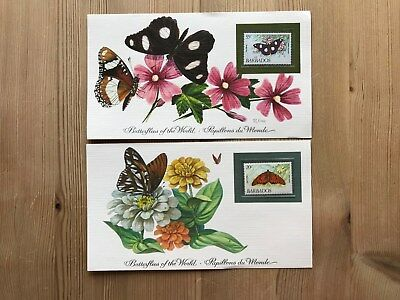 BARBADOS 1983 FRANKLIN BUTTERFLY COLLECTION x 2 RARE AVAILABILITY
