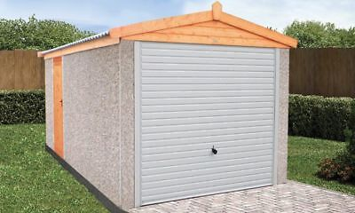"CONCRETE SECTIONAL GARAGE GARAGES SHEDS  16ft 3"" X 8FT 6"" APEX  ROOF"
