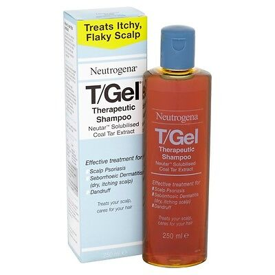 Neutrogena T/Gel Therapeutic Shampoo 250ml Scalp Psoriasis,Dry Itching, Dandruff
