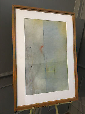 Caziel 1906-1988 original signed abstract pastel drawing on paper 1980s Polish