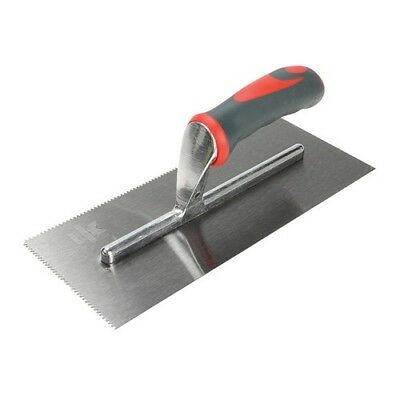 Faithfull FAISGTNOT3 Notched Trowel V 3mm Soft-Grip Handle 11 x 4.1/2in