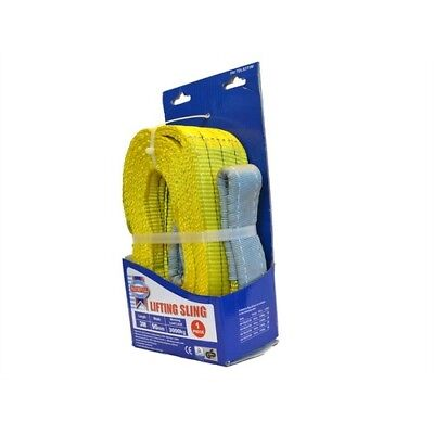 Faithfull XLP-03 3 METRE Lifting Sling Yellow 3 Tonne 90mm x 3m