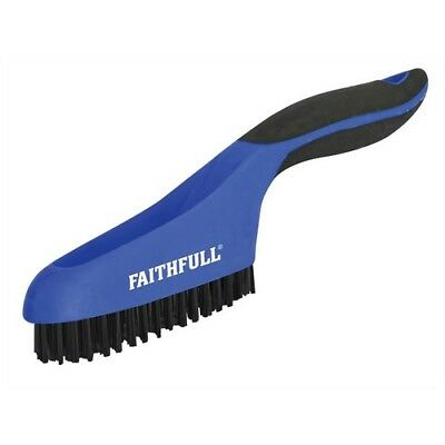 Faithfull 1663 Scratch Brush Soft Grip 4 x 16 Row Stainless