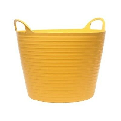 Faithfull FAIFLEX60Y Heavy-Duty Polyethylene Flex Tub 60 Litres Yellow