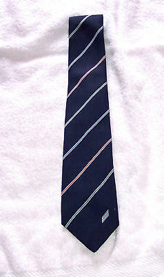 Tie - Red Yellow Green stripes - 1980's - Polyester unused excellent note/pics