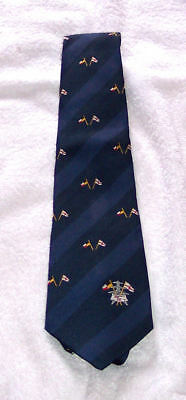 Tie - with Flags / Pylon - 1980's - Polyester - unused - excellent - notes/pics