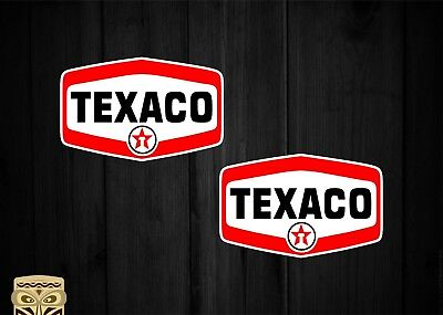 Pegatina Decal Sticker  Aufkleber Adesivi  Texaco X2 Bumper Car Van Oil Fuel