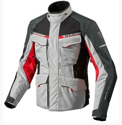 Giacca Moto Outback 2 Argento Rosso Rev'it Size Xl
