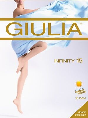 Giulia Infinity 15 Denier Tights  Sheer To Waist all Sizes up to XL