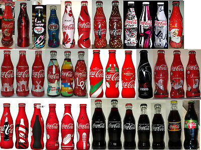 Coca Cola 38 bottiglie Europei Trussardi Natale Coke Italy bottles lot new full