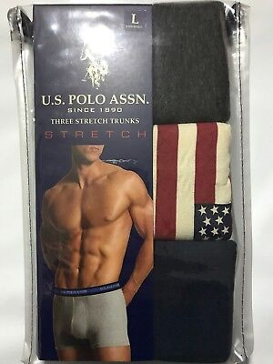 3 Pack US Polo Assn Boxer Briefs Stretch Tag Free S M L XL Comfortable Support