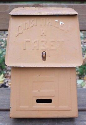Rusty vintage old mailbox decor rustic farm. Old Letterbox. Original. Primitive