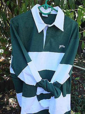 PERRIER   Maillot Rugby   Vert et Blanc  Taille xl