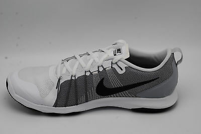 Nike Flex Train Aver Men's Running  Shoes White/black/grey Size 10.5 831568 100