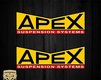 Pegatina Decal Sticker Autocollant Adesivi Aufkleber 2 X Apex Suspension
