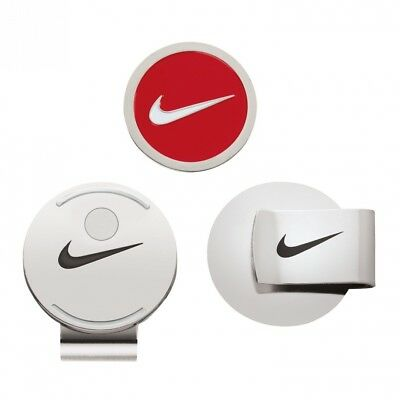 Nike Hat Clip and Ball Marker (Red/White). Brand New