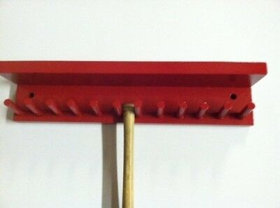 Baseball Bat Rack Display with Shelf Meant to Hold up to 11 Mini Collectible