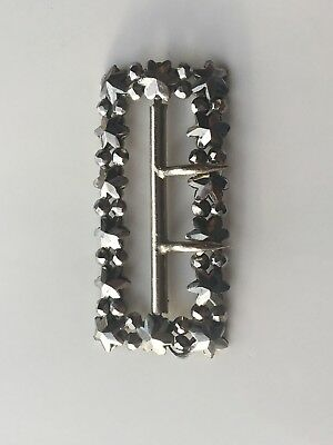 Antique Cut Steel - Star Design Small Buckle