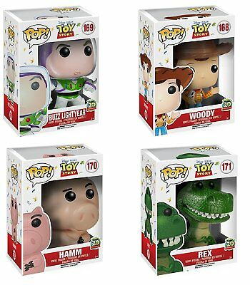 Funko PopToy Story 20th Woody, Buzz Lightyear, Hamm & Rex 6876.77.78.79 Set of 4