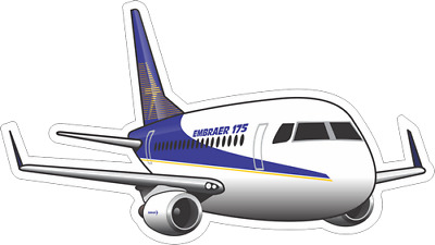 Embraer 175 aircraft sticker