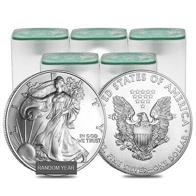 Lot of 100 - 1 oz Silver American Eagle BU (Random Year)