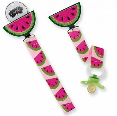 Hard to find Boutique MUD PIE WATERMELON Pacifier Clip Keeper NEW!