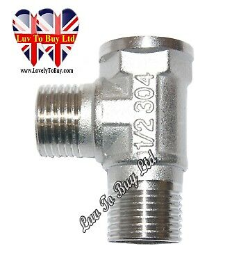 Bidet T Connector, Stainless Steel 304, 1/2 inch