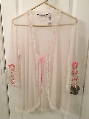 VINTAGE Delicates Bed Jacket, Sheer With Beautiful Embellishments