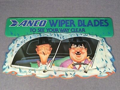 """Vintage Anco Wiper Blades To See Your Way Clear Plastic Sign Used 31 3/4"""" long"""