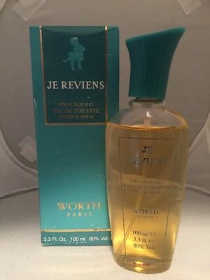 WORTH BY JE REVIENS 3.3 Fl oz/100 ml Eau De Toilette Spray Read Descr.  VINTAGE