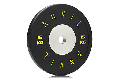Elite Competition Bumper Gym Weight Plate - 15kg Black