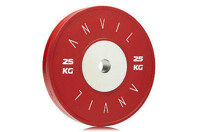 Competition Elite Bumper Gym Weight Plate - 25kg Red