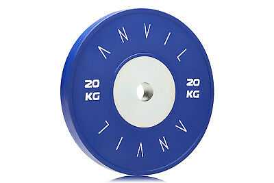 Competition Elite Bumper Gym Weight Plate - 20kg Blue