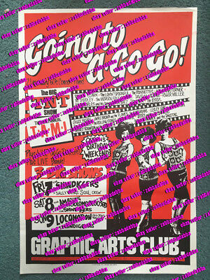 SHINDIGGERS ~Going To A Go Go 1985 AUST GIG POSTER~Sydney~Graphic Arts~ Supremes