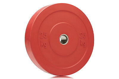 Bumper Gym Weight Plate - 25kg Red