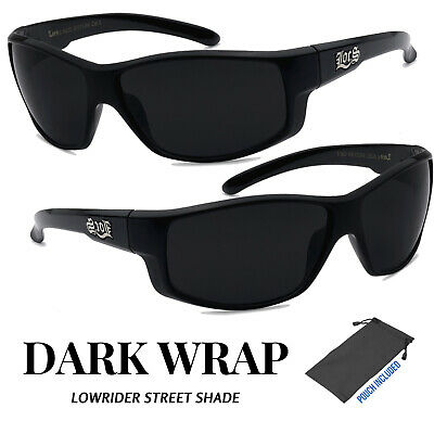 6c9cacf6f8 Mens OG LOCS Lowrider Dark Wrap Biker Cholo Sunglasses Gangster thug Black  Shade