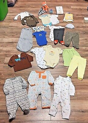 29 Piece Newborn - 12M Gender Neutral Unisex Baby Clothes Baby Shower Lot
