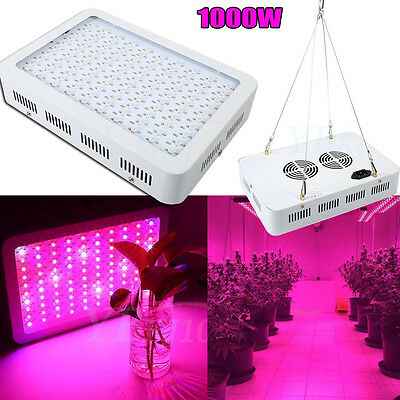 Hot !!! 1000W Watt LED Plant Grow Light Kits Panel Lamp Hydroponics Indoor Veg