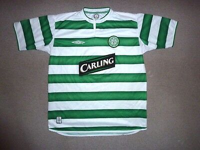 size:large #7  Glasgow CELTIC FC football shirt Celtic Top Home NUMBER 7 on REAR