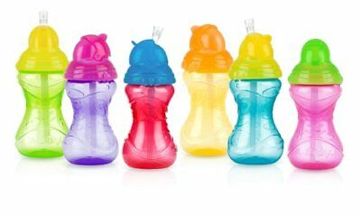 Baby Feeding - Nuby - Click-It Flip-It Straw 10oz (1 Cup Only) Vary Color 10119