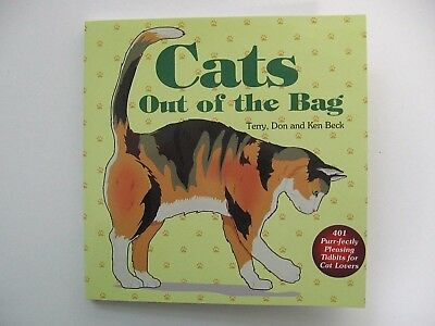 """Cat Book """"Cat's Out of the Bag"""" 401 Tidbits for Cat Lovers NEW"""