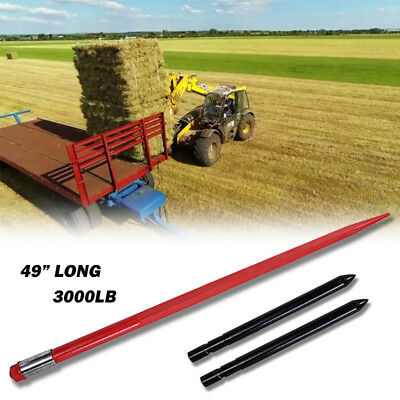 """49"""" 3000 lb Hay Spear with Stabilizer Spears bale spike fork tine"""