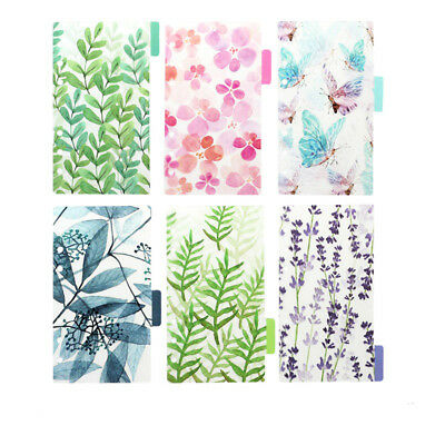 6PCS/set A5A6 planner 6 holes color index of notebook pages Paging separator\