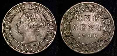 CANADA 1900 H Large Cent XF