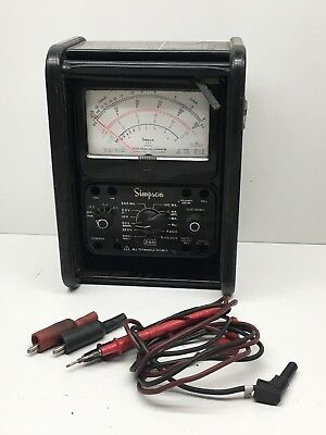 Simpson 260 Series 7 Volt-Ohm-Milliammeter with Probes and Case