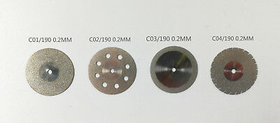 Dental Diamond Disc Wheel Double Sided For Porcleain Teeth Cutting Polishing
